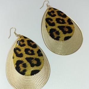 NWT TeSori Animal Print Statement Earrings